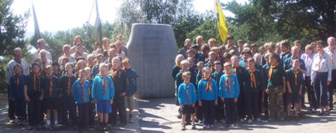 1st Harwell Scout Group on Brownsea Island